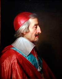 Il Cardinale Richelieu, fondatore dell'Academie Française nel 1635, in un ritratto di Philippe de Champaigne.