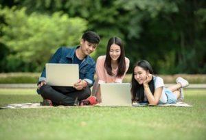 gruppo di studenti di lingue